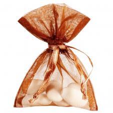 Sac organdi chocolat clair (x10) REF/2462