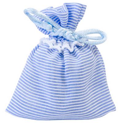 Contenant sachet rayures bleu ciel (x4) REF/SC434