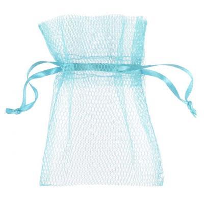 Sachet tulle bleu ciel (x10) REF/5095