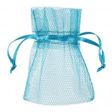 Sachet tulle bleu turquoise (x10) REF/5095