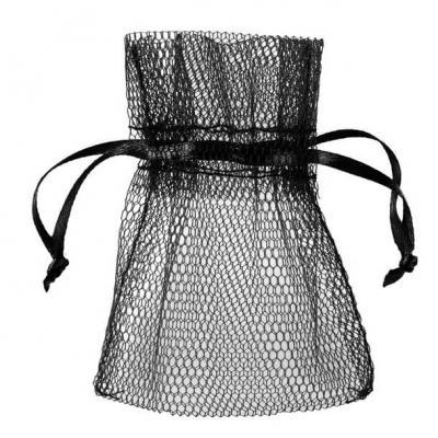 Sachet tulle noir (x10) REF/5095