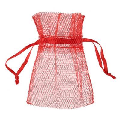 Sachet tulle rouge (x10) REF/5095