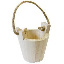 Contenant seau en bois naturel (x1) REF/BT2606