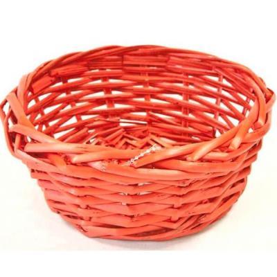 Corbeille en osier rouge (x1) REF/VAN719