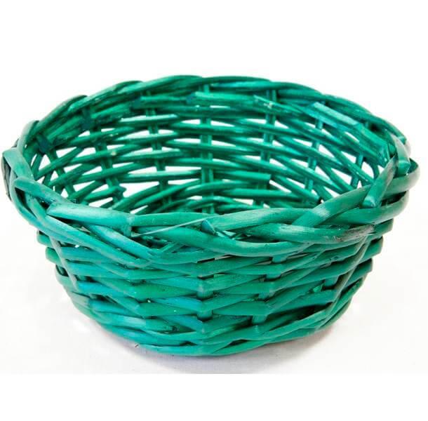Corbeille vert sapin en osier
