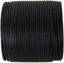 Cordon ciré noir (x1) REF/3118