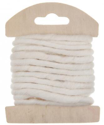 Cordon laine blanche (x1) REF/5587