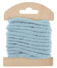 Cordon laine bleu ciel (x1) REF/5587