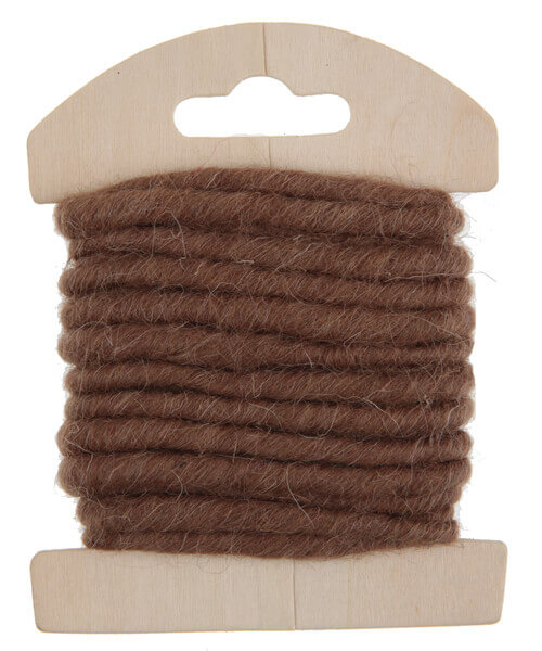 Cordon laine chocolat
