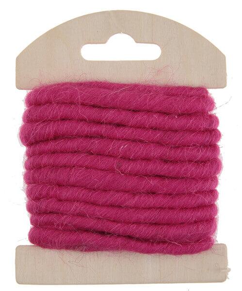 Cordon laine fuchsia