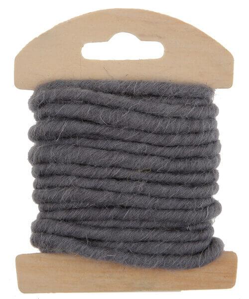 Cordon laine grise