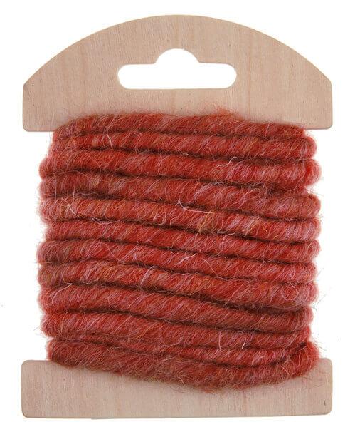 Cordon laine rouge