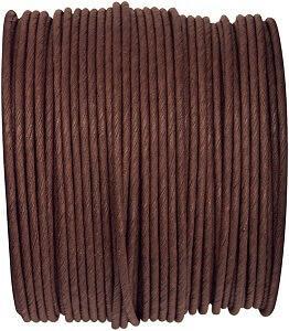 Bobine papier cordon laitonné chocolat (x1) REF/2718