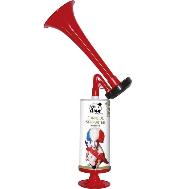 Corne du supporter tricolore france trompette