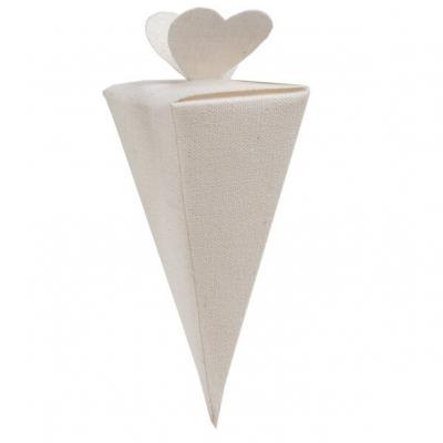 Cornet mariage coeur blanc pour confection (x4) REF/5746