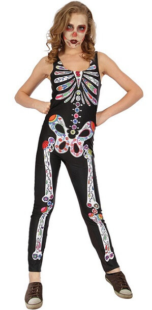 Costume ado fille halloween day of the dead