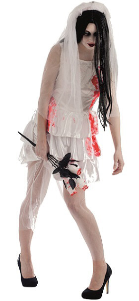 Costume adulte femme mariee zombie