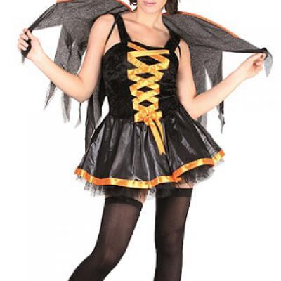 Costume adulte XL: Sorcière sexy orange et noire (x1) REF/86887