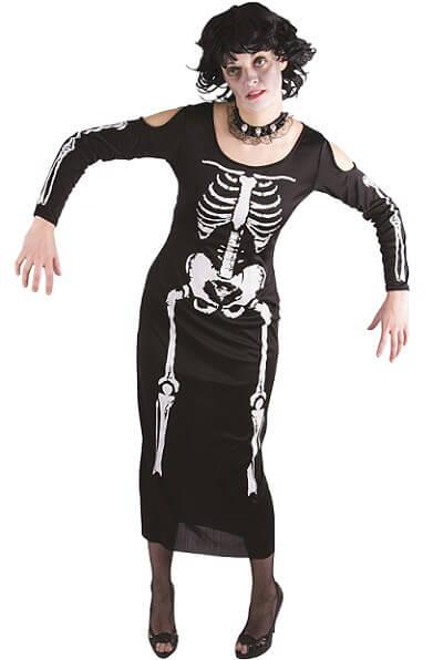 Costume adulte femme squelette