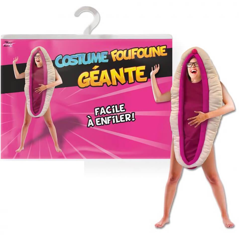 Costume adulte geant foufoune sexy