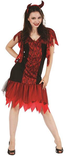 Costume adulte halloween femme diablesse