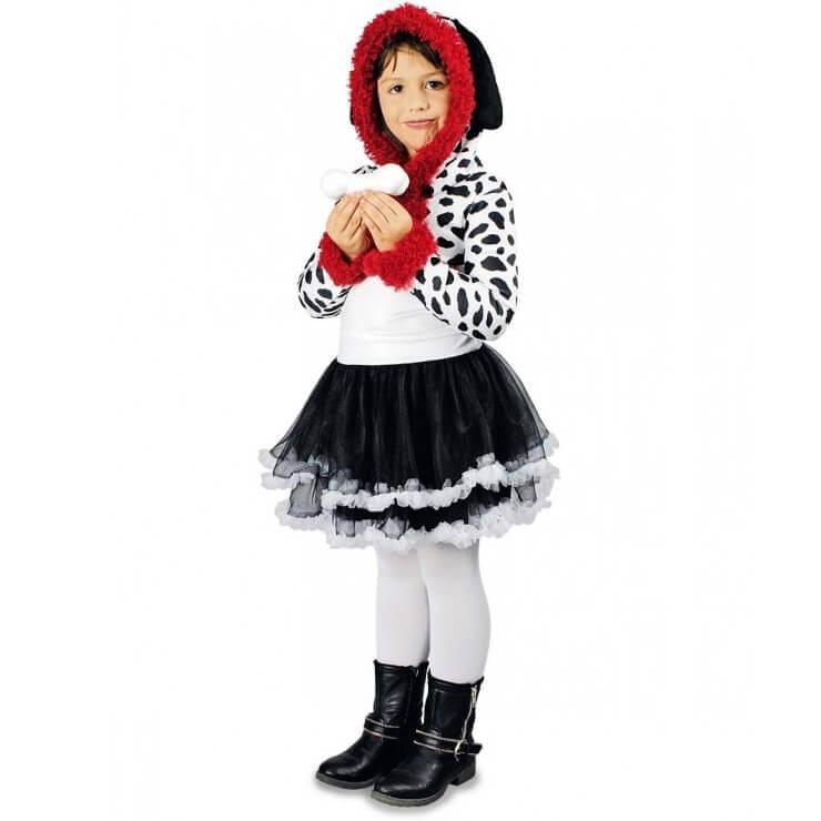 Costume dalmatien robe et capuche pour fille