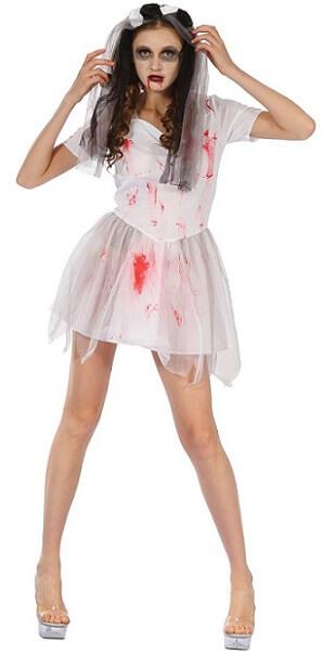 Costume fille halloween mariee sanglante