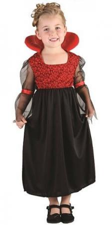 Costume Halloween 3-4ans: Vampiresse (x1) REF/82766