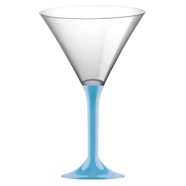 Coupe aperitive martini bleu turquoise