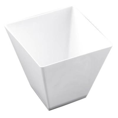 Verrine: Coupelle blanche losange 9.5cl (x25) REF/56001