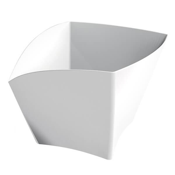 Coupelle curve blanche