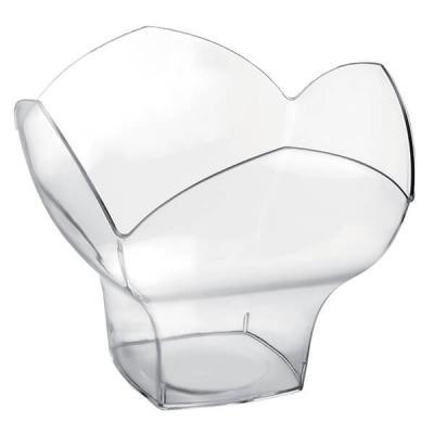 Coupelle fleur transparente 100ml (x25) REF/56039
