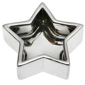 Coupelle métallisée étoile argent (x1) REF/5119