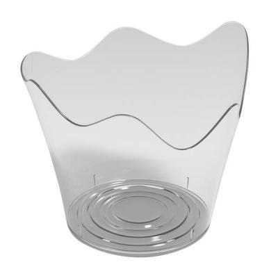 Verrine plastique réutilisable en coupelle Tulipe transparente 90ml (x25) REF/56119