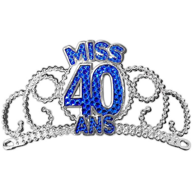 Couronne de miss anniversaire 40ans cadeau de fete pour femme