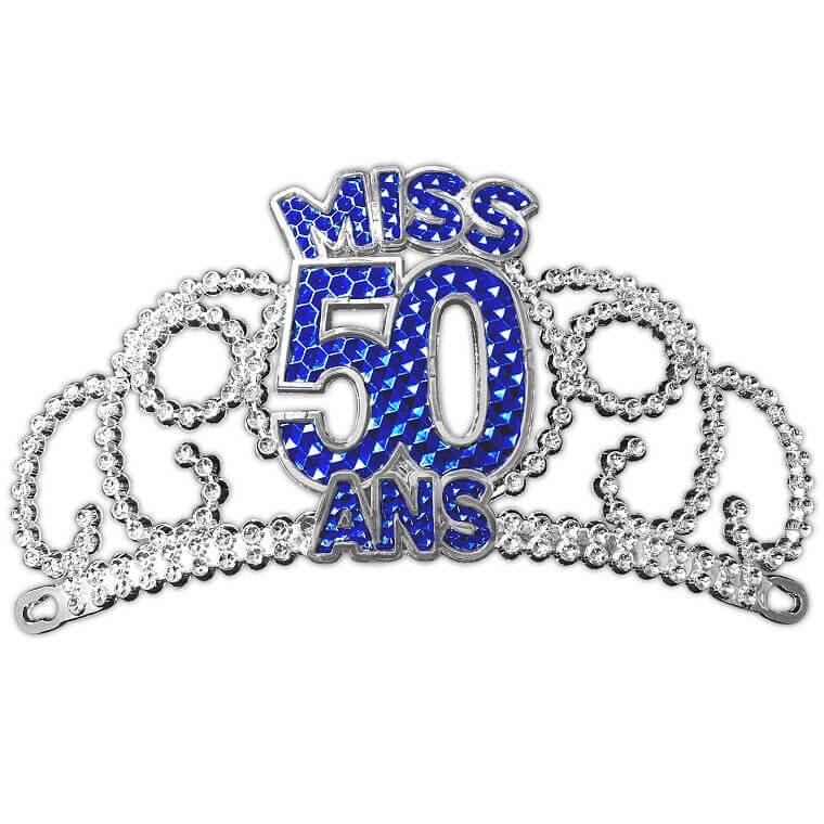 Couronne de miss anniversaire 50ans cadeau de fete pour femme