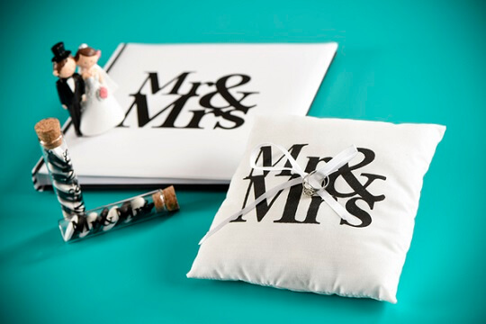 Coussin a alliance mr et mrs