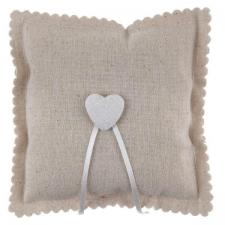 Coussin à alliances mariage champêtre naturel avec coeur décoratif (x1) REF/6921