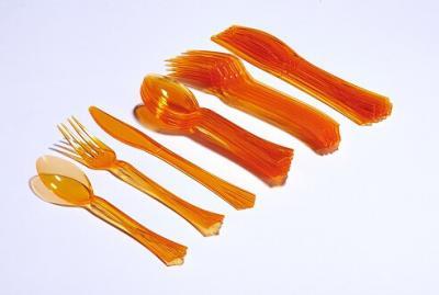 Couvert plastique: Mandarine (x18) REF/2451