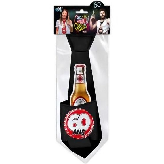 Cravate anniversaire 60ans noire pour cadeau de fete