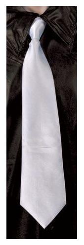 Cravate blanche avec elastique