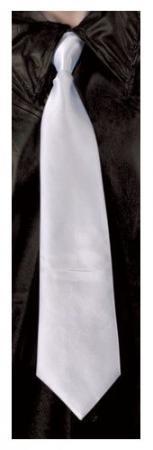 Cravate blanche avec élastique (x1) REF/60252