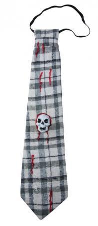 Cravate avec crâne à carreaux (x1) REF/42090