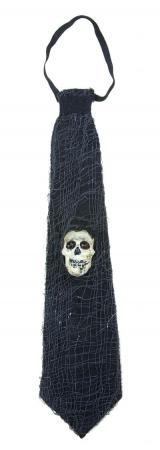 Cravate noire avec crâne (x1) REF/42090