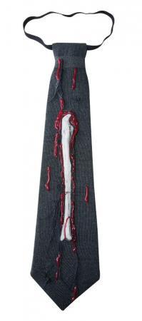 Cravate noire avec os (x1) REF/42090