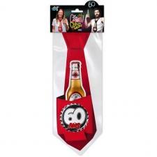 Cravate anniversaire 60ans rouge pour cadeau (x1) REF/CRAVG06R