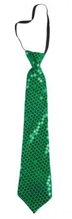 Cravate sequins avec élastique: Vert (x1) REF/60248