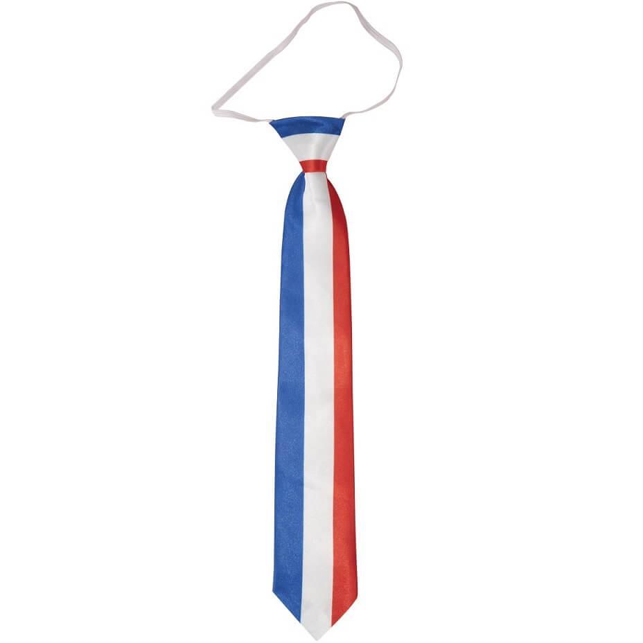 Cravate tricolore france supporters bleu blanc rouge