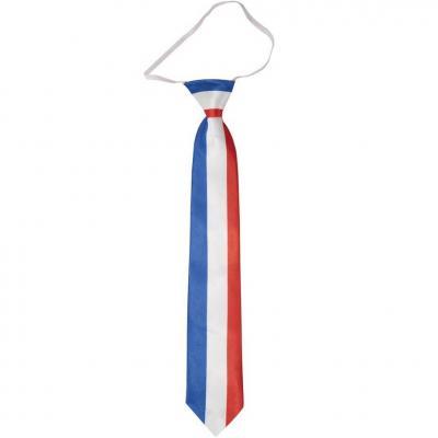 Cravate France tricolore bleu, blanc et rouge (x1) REF/62534