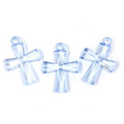 Croix translucide bleu ciel (x10) REF/MT631